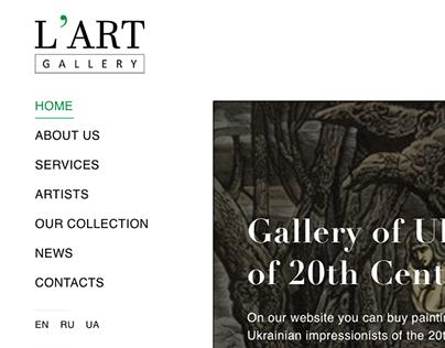 e - commerce art gallery L'ART