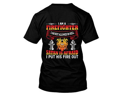 FIRE FIGHTER T-SHIRT DESIGN