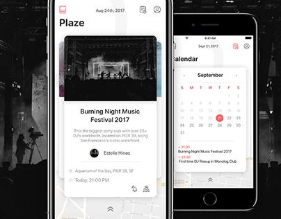 Plaze App Design