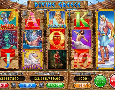 """Online slot machine – """"Divine Greece"""""""