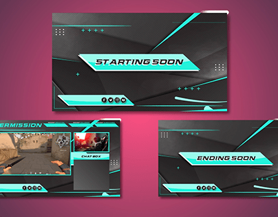 Gaming twitch screens and overlay