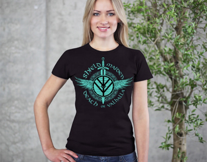 Shield Maiden Shirt Print