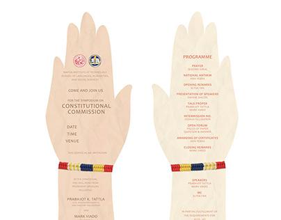Hand-Shaped Invitation Bookmark