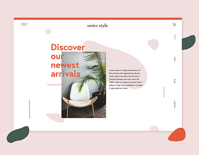 Swiss Style furniture website design