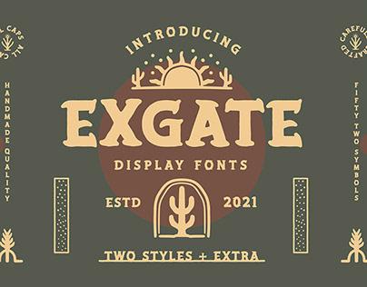 EXGATE Display Font + Extra