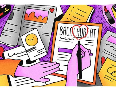 Frica de școală - ilustrații