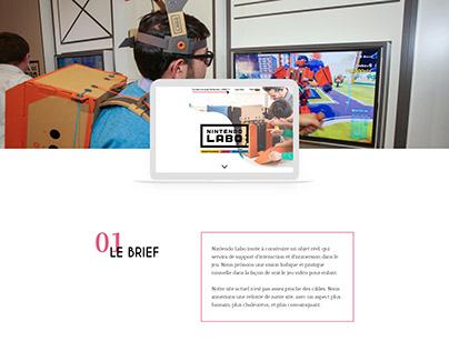 NINTENDO LABO - UX/UI design