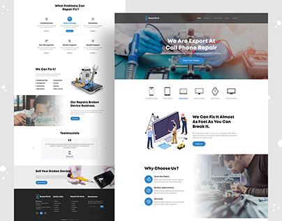 Electronic & mobile repair landing page