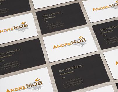 AndreMob Design - Logo - Business Cards