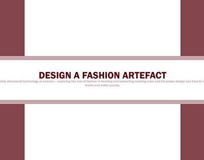 Design a fashion artefact