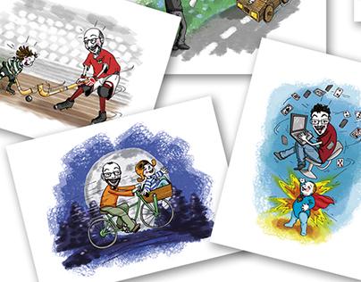Customized illustrations