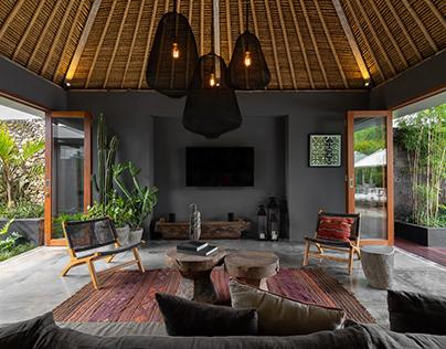 DS Bali Villa Photography - Unique Dark Interior Style