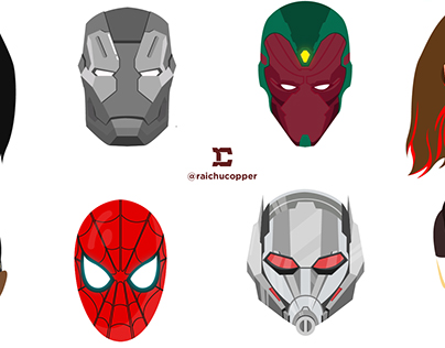 INFINITY WAR CHARACTER ICONS