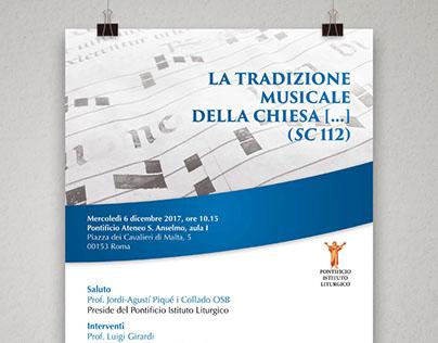 Brochure manifesti rollup Pontificio Istituto Liturgico
