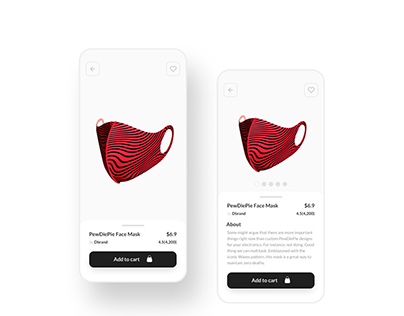 Face Mask Ecommerce Shop - Daily UI 012