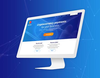 Paycoiner website UI & logo concept