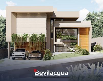 Bevilacqua Arquitetura   Projeto residencial 306,80m²