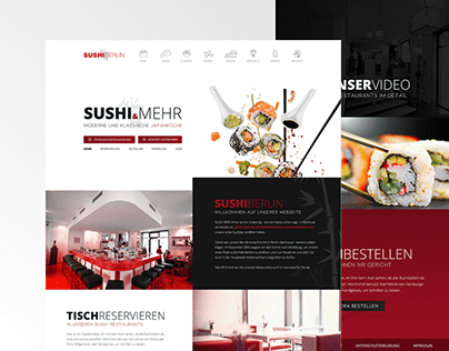 Website Design For A Berlin Sushi Restaurant