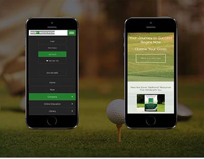 Responsive web design for Golf Convergence