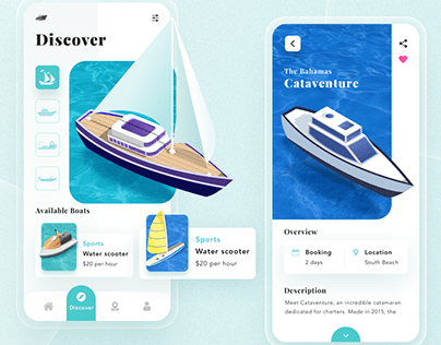 Website Design for Yatch/Boat Selling Company