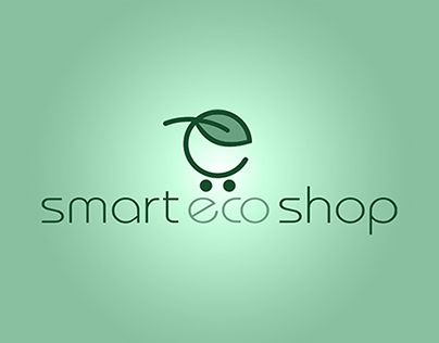 Smart Eco Online Shop logo design