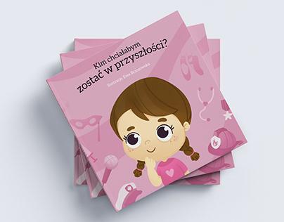 Personalized children book design - girls