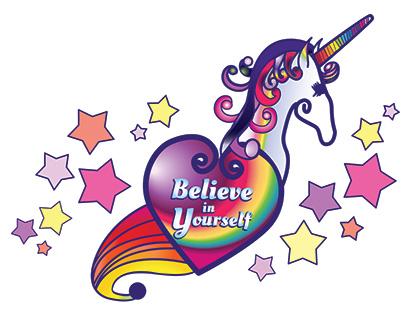 Vector Illustration Unicorn Rainbow Design