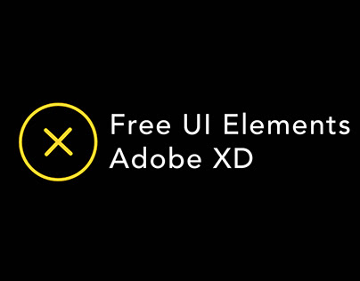 Free : UI Elements - Adobe XD