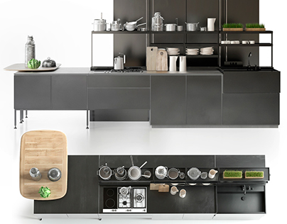 3D MODEL BOFFI KITCHEN
