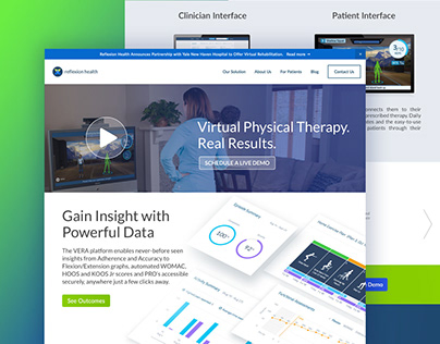 Reflexion Health Landing Page
