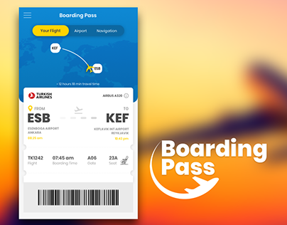 Boarding Pass - UI Design Concept