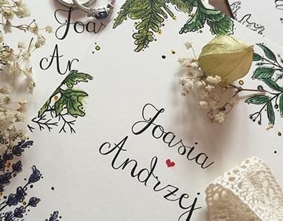 Wedding invitation J&A