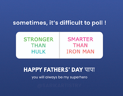 Happy Fathers' Day Social Media Creative Post