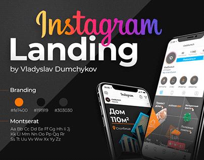Instagram Landing Design
