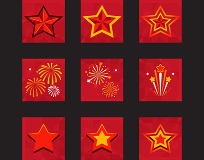 Holiday icons for mobile