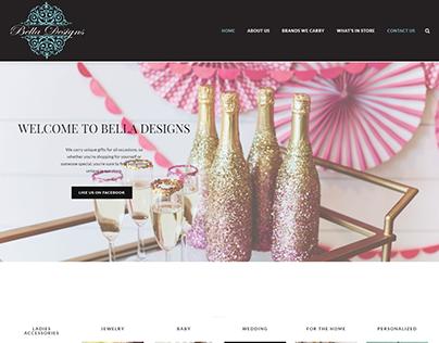 Bella Designs & Gifts Website Redesign