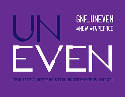 GNF UNEVEN TYPESET Display capital letters font