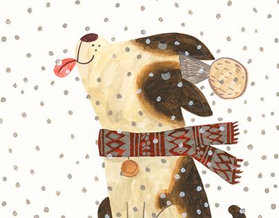 A Christmas dog