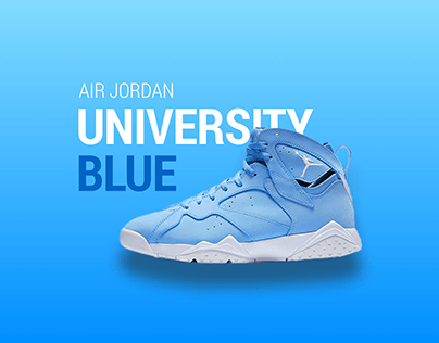 AIR JORDAN - UNIVERSITY BLUE - Graphic Design Concept