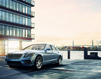 Mercedes S500 Compositing