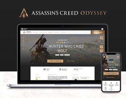Assassin's Creed - Responsive website