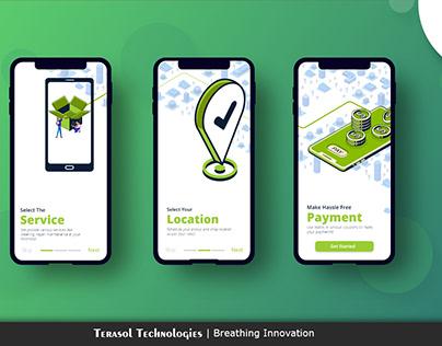 Onboarding Screens- Mobile app identity - Panda Clean