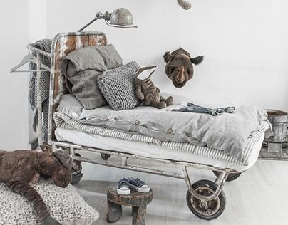 VINTAGE-INDUSTRIAL KIDS ROOMS