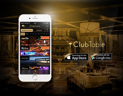 ClubTable Mobil Uygulama Sosyal Medya Tasarımları-I