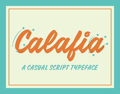 Calafia Casual Script Typeface
