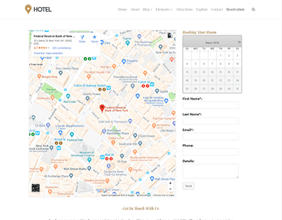 Reservation Page - Hotel WordPress Theme