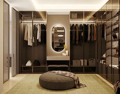 3D Interior Rendering Closet Armoire