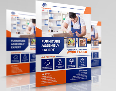 Furniture Assembly Services Flyer Template