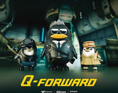 企鹅冲锋CF联名潮玩设计
