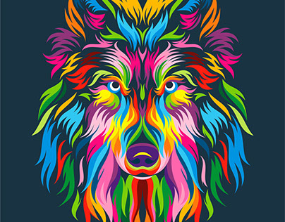 Full Color Wolf